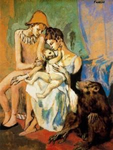 27- Picasso - Familia de Acróbatas con mono