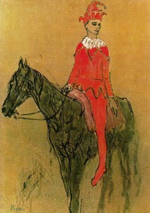 27. PABLO-PICASSO-HARLEQUIN-ON-A-HORSE