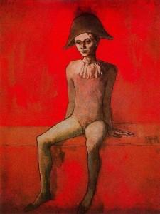 27.Picasso - Arlequín sentado