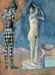 31. Picasso - The Harlequin-s Family, 1905, gouache