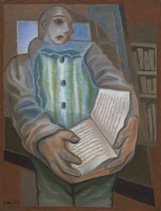 35.GRISpierrot-with-book-1924